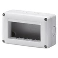 Contenitore 4 posti grigio System Gewiss GW27004
