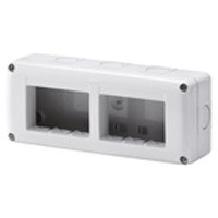 Contenitore 6 posti grigio System Gewiss GW27005