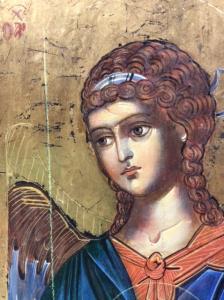 Icona Angelo custode di Svetlozar Mladenov 30 x 20,5 cm