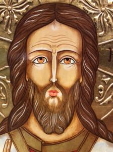 Icona rumena dipinta Cristo con libro aperto 40 x 30