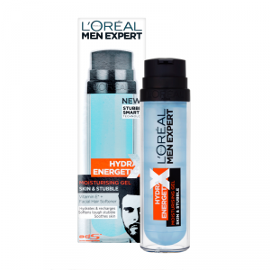 L'OREAL- Hydra Energetic X - Crema Viso + Barba Di 3 Giorni Idratazione Intensa - 50 Ml