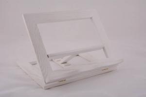 Leggio da tavolo in legno bianco 25 x 20 cm