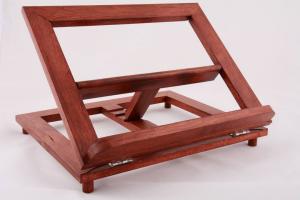Leggio da tavolo in legno rosso 34 x 28 cm