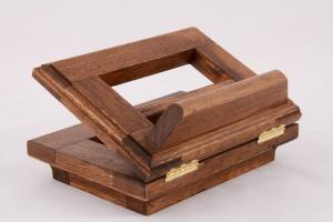 Leggio piccolo da tavolo in legno 16 x 12 cm