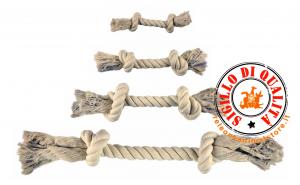Gioco Corda cotone due nodi varie misure per Cani Imac