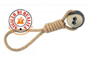 Gioco Cane in corda con tennis ball 33cm IMAC