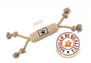 Gioco Cane in corda salsicciotto in tessuto 40cm Imac