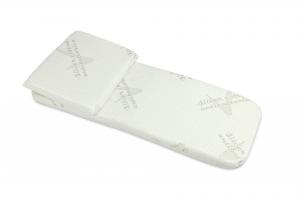 Babysanity  Ttio set completo di materassino e cuscino in fibra d'argento (Silver)