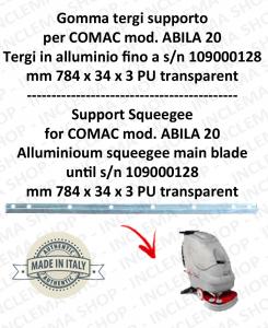 Bavette soutien pour autolaveuses COMAC ABILA 20 suceur en aluminium jusqu'au matr 109000128