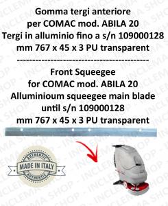 goma de secadopavimento delantera para fregadora COMAC ABILA 20 tergi in alluminio fino a s/n 109000128