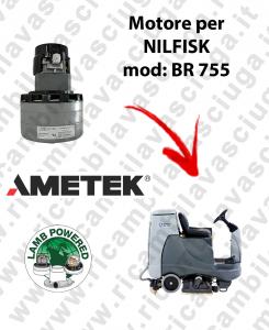 BR 755 moteur aspiration LAMB AMETEK pour autolaveuses NILFISK