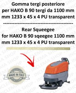 B 90 ( tergi da 1100 mm) GOMMA TERGI posteriore per lavapavimenti  HAKO