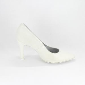 Scarpa donna elegante da sposa e cerimonia in tessuto glitter bianco Art. DAPHNE Gi. Effe Ci.