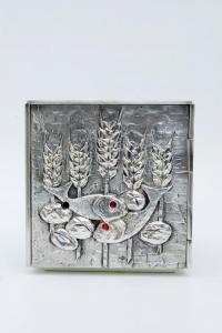 Tabernacolo in bronzo argentato 19x19 cm LEO023