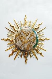 Tabernacolo in bronzo bicolore con raggera d. 65 cm LODTAB