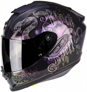 CASCO MOTO INTEGRALE SCORPION EXO-1400 AIR BLACKSPELL CHAMELEON BLACK