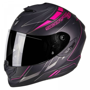 CASCO MOTO INTEGRALE SCORPION EXO-1400 AIR CUP MATT BLACK CHAMELEON PINK