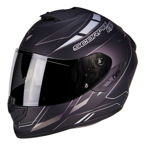 CASCO MOTO INTEGRALE SCORPION EXO-1400 AIR CUP MATT BLACK CHAMELEON SILVER