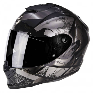 CASCO MOTO INTEGRALE SCORPION EXO-1400 AIR PATCH BLACK SILVER