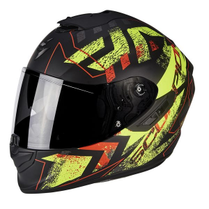 CASCO MOTO INTEGRALE SCORPION EXO-1400 AIR PICTA MATT BLACK NEON YELLOW