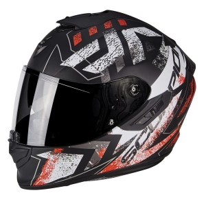 CASCO MOTO INTEGRALE SCORPION EXO-1400 AIR PICTA MATT BLACK NEON RED