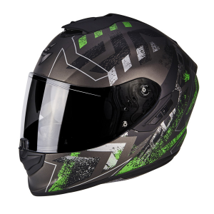 CASCO MOTO INTEGRALE SCORPION EXO-1400 AIR PICTA MATT SILVER GREEN