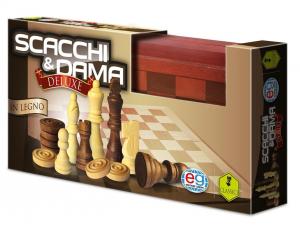 EDITRICE GIOCHI DAMA & SCACCHI IN LEGNO DELUX 6036101