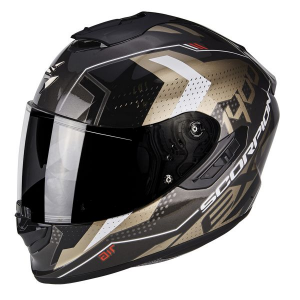 CASCO MOTO INTEGRALE SCORPION EXO-1400 AIR TRIKA GOLD BLACK