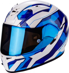 CASCO MOTO INTEGRALE SCORPION EXO-710 AIR FURIO BLUE