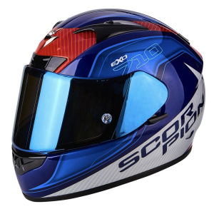CASCO MOTO INTEGRALE SCORPION EXO-710 AIR MUGELLO BLUE-WHITE