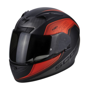 CASCO MOTO INTEGRALE SCORPION EXO-710 AIR MUGELLO MATT BLACK RED SILVER