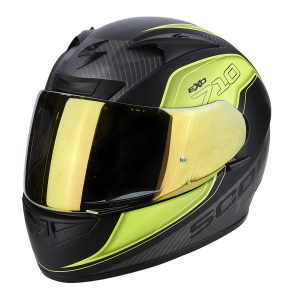 CASCO MOTO INTEGRALE SCORPION EXO-710 AIR MUGELLO MATT BLACK YELLOW SILVER