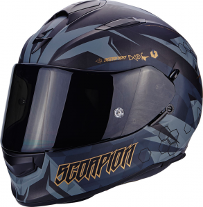 CASCO MOTO INTEGRALE SCORPION EXO-510 AIR CIPHER MATT BLACK GOLD