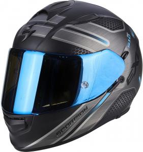 CASCO MOTO INTEGRALE SCORPION EXO-510 AIR ROUTE MATT BLACK BLUE