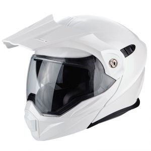 CASCO MOTO ENDURO/TOURING SCORPION ADX-1 SOLID PEARL WHITE