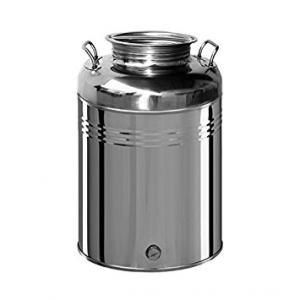 Contenitore in acciao per olio