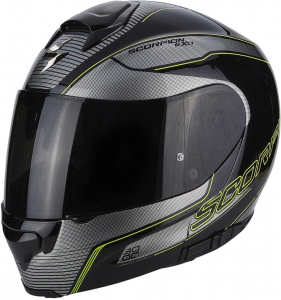 CASCO MOTO MODULARE SCORPION EXO-3000 AIR STROLL BLACK SILVER NEON YELLOW