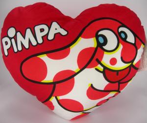 Altan La Pimpa cuscino cuore peluche 40 cm velluto