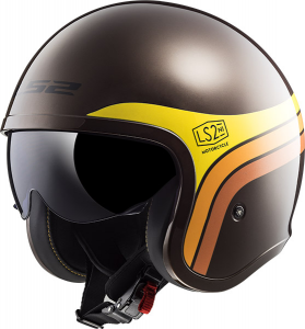 Casco jet LS2 OF599 SPITFIRE SUNRISE Marrone
