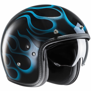 Casco jet HJC FG 70s ARIES in fibra MC2 Nero Blu