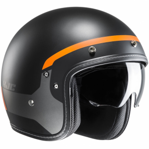 Casco jet HJC FG 70s MODIK in fibra MC7SF Nero arancio