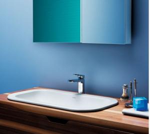 Lavabo a incasso Azzurra Glaze cm 69 x 38