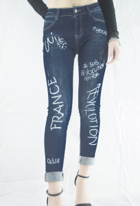 StockeBeauty.it- JEANS SLIM CON SCRITTE