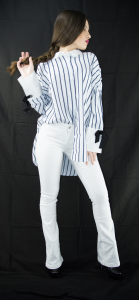 StockeBeauty.it- PANTALONE ZAMPA BIANCO