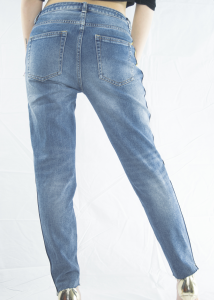 StockeBeauty.it- JEANS NASTRO GIALLO SCRITTA