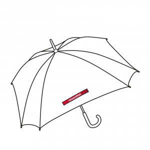 Reisenthel - Ombrello rinforzato rosso a pois bianchi cod. YM3014