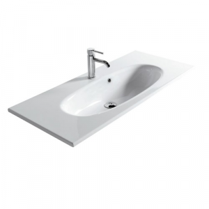 Lavabo sospeso per il bagno cm 105 x 45 Ergo Galassia