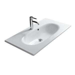 Lavabo sospeso per il bagno cm 85 x 45 Ergo Galassia