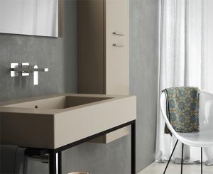 Lavabo sospeso per il bagno cm 91 x 51 Incantho Globo