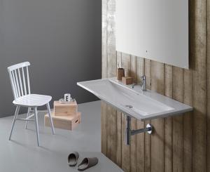 Lavabo sospeso per il bagno cm 102 x 45 Stockholm Globo